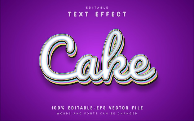 Cake text effect cartoon style template
