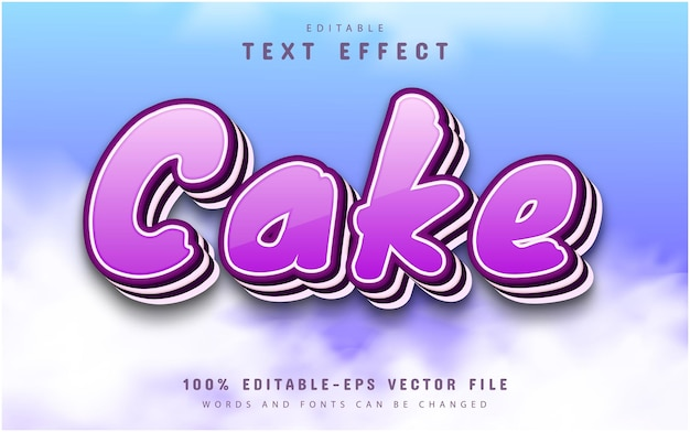 Cake text effect editable