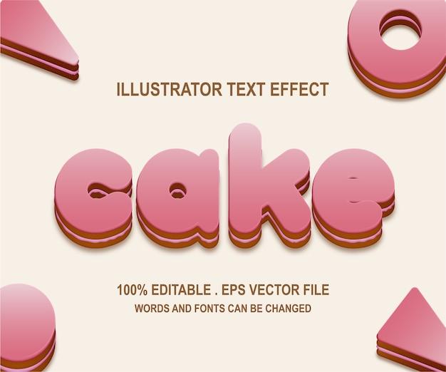 Эффект стиля текста торта