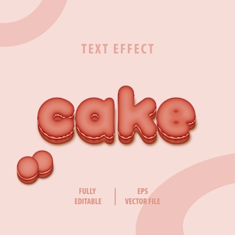 Cake text style effect