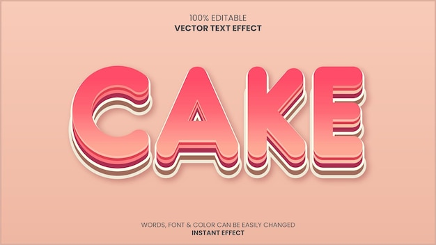 Effetto testo torta