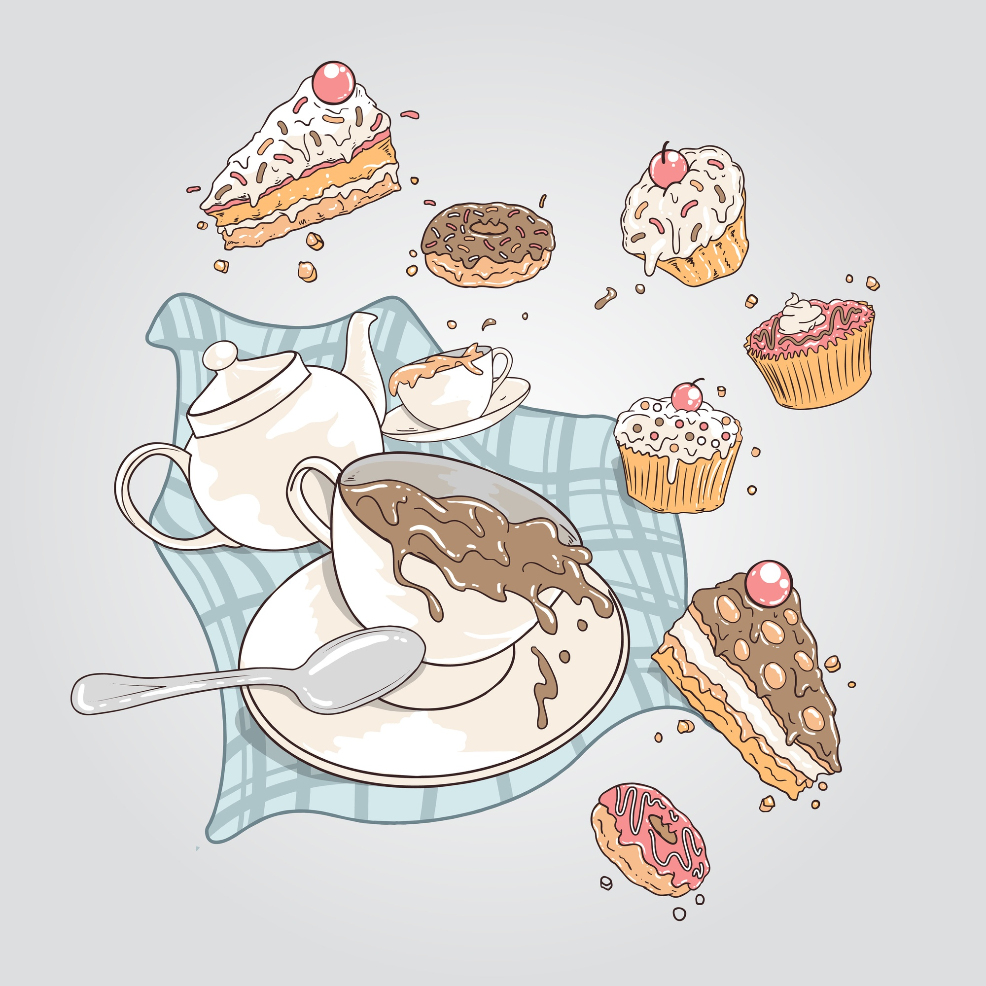 CAKES AND DOUGHNUTS