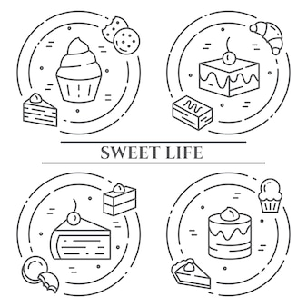 Cakes and cookies theme banner.