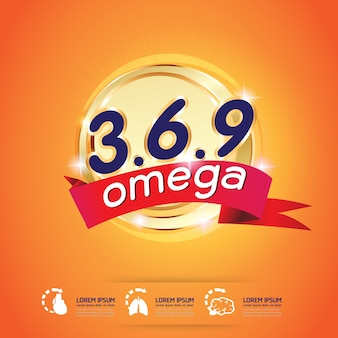 Calcium omega and vitamins logo products for kids vector