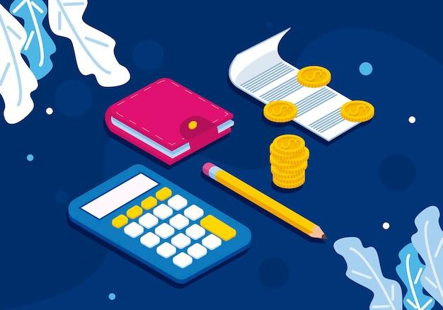 電卓と財政のアイコン