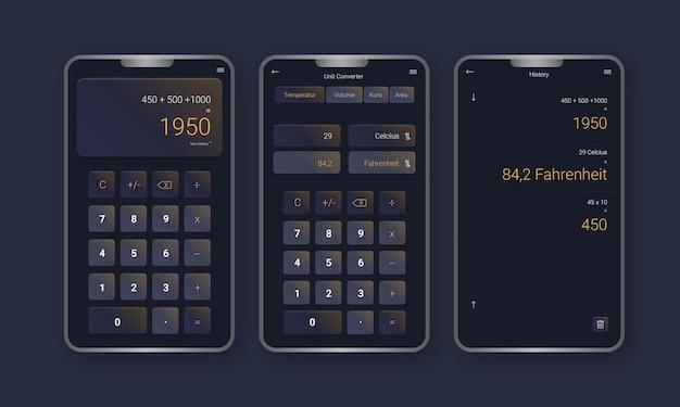 계산기 앱 모바일 템플릿