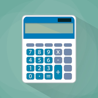 Calculator flat illustration.