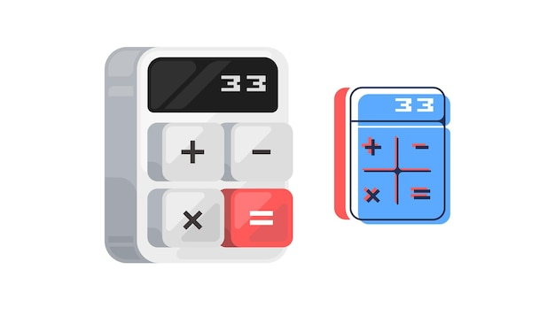 계산기 아이콘입니다. 디지털 키패드 수학 격리 장치 벡터 일러스트 레이 션.