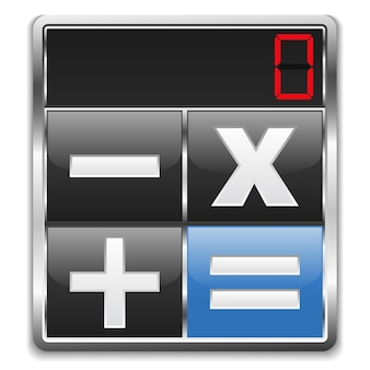 Значок калькулятора, иллюстрация