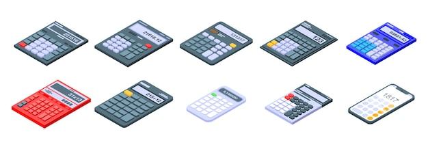 Calculator icons set