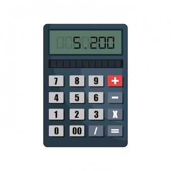 Calculator isolated design