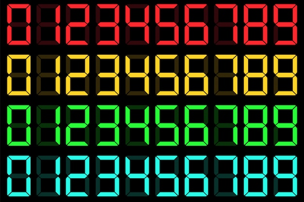 Calculator liquid crystal digital lcd numbers.