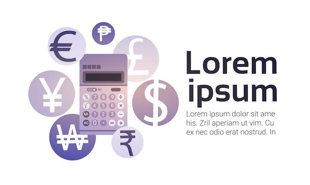 Calculator money exchange finance banking currency