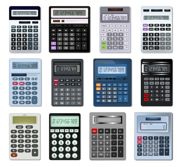 Calculator vector business accounting calculation technology calculating finance illustration
