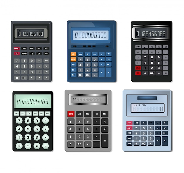 Calculator vector business accounting calculation technology calculating