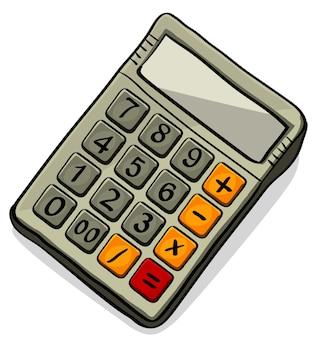 電卓ベクトルアイコン。白い背景で隔離のベクトル図 Premiumベクター