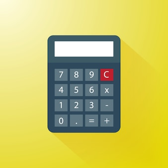 Calculator with modern flat style