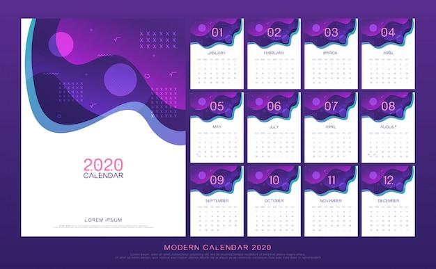 Calendar 2020 abstract