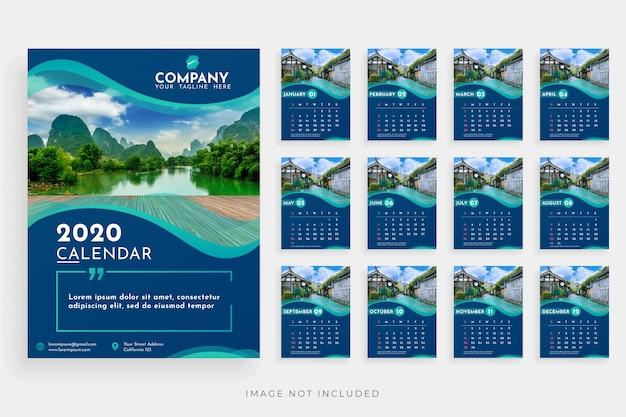Календарь 2020 жидкая рамка фото