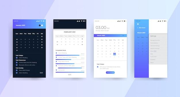 カレンダーアプリのui uxコンセプトページ