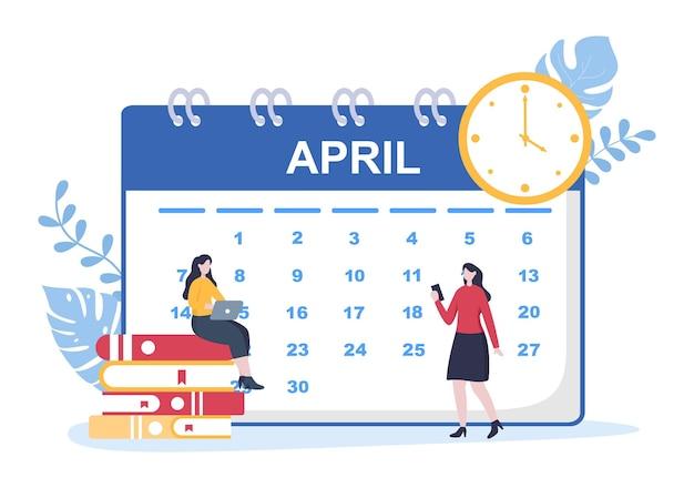 Календарный фон векторные иллюстрации с круговым знаком для планирования, тайм-менеджмента, организации работы и жизненных событий или праздника