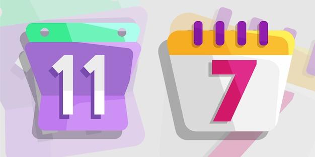 Calendar flat element