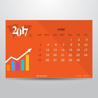 Календарь июня 2017 года