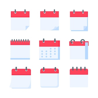 Calendar icon. a red calendar for reminders of appointments and important festivals in the year.