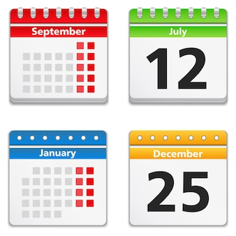 Calendar icons, illustration
