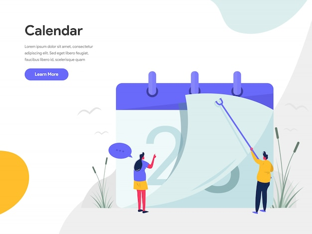 Calendar illustration concept