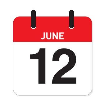 カレンダー6月12日
