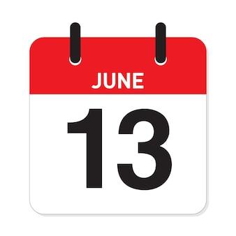 カレンダー6月13日