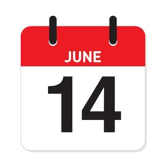 カレンダー6月14日