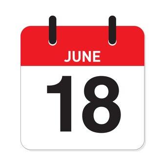 カレンダー6月18日