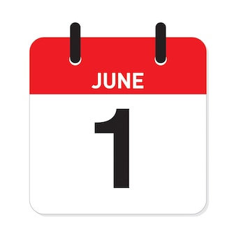 カレンダー6月1日