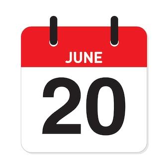 カレンダー6月20日