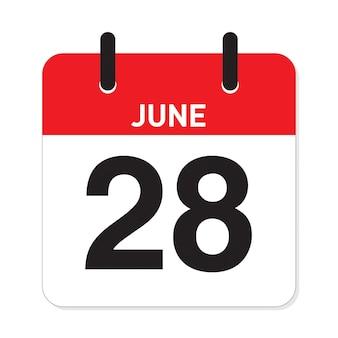 カレンダー6月28日