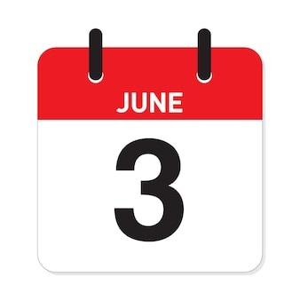 カレンダー6月3日