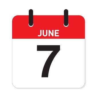 カレンダー6月7日