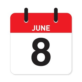 カレンダー6月8日