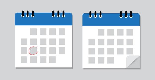 Calendar mark the date isolated on gray.