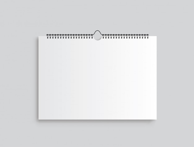 Calendar mockup. calendar hangs on the wall.