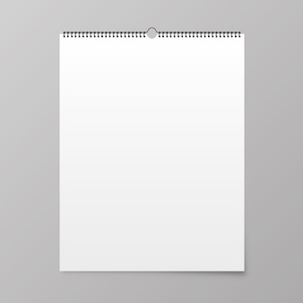Calendar mockup. calendar hangs on the wall.