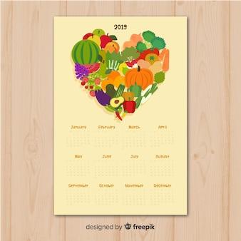 계절 야채와 과일의 달력