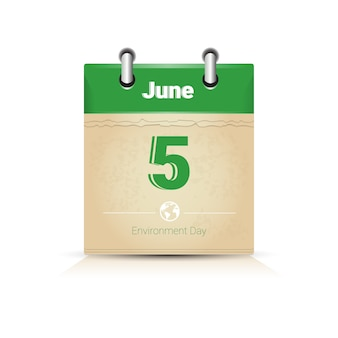 カレンダーpage 5 june世界環境デー