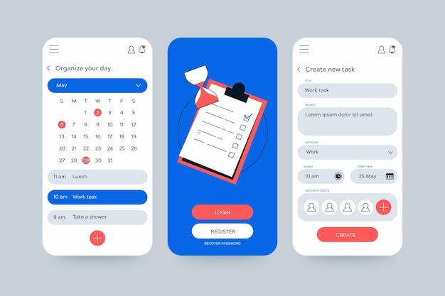 Calendar and planner task management mobile app