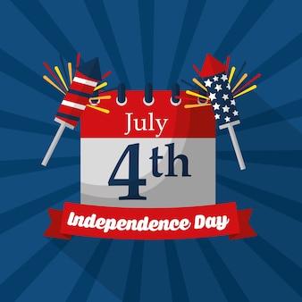 Calendar reminder american independence day