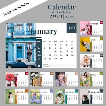 Calendar template faashion and stlyes