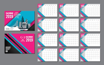 Calendar Template for 2019 Year