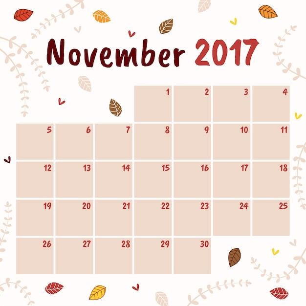 november calendar images